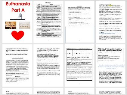 Euthanasia (Applied Ethics) Workbook and Power Points