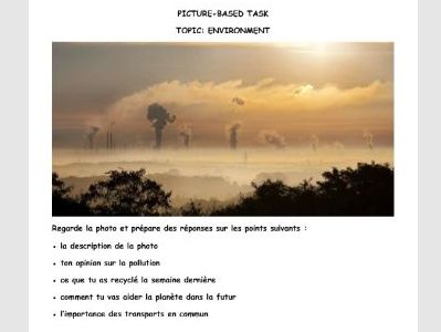 French GCSE Picture-based task environment