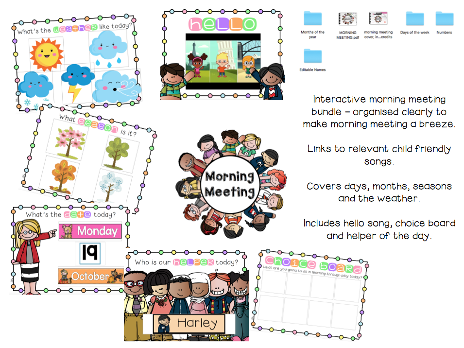 Interactive Morning Meeting Bundle