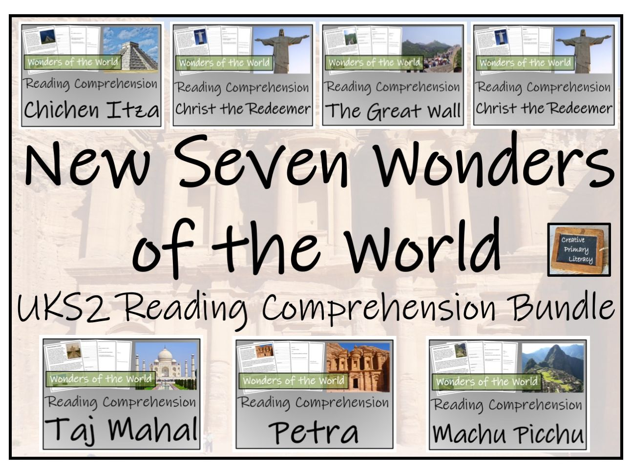 New Seven Wonders of the World - Reading Comprehension Activity Bundle