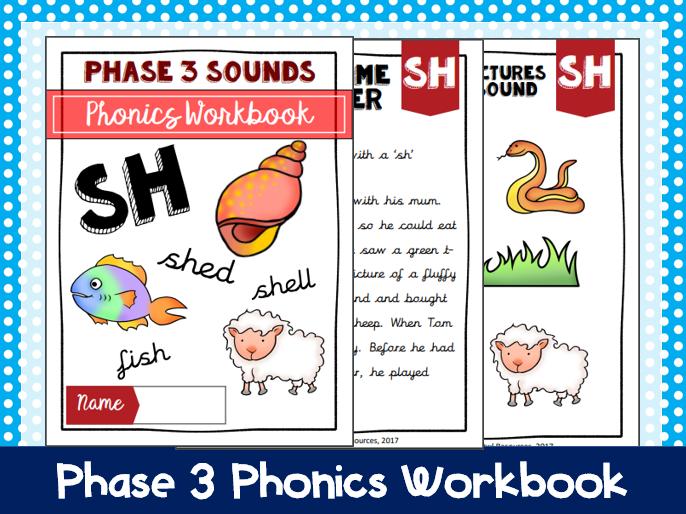 'Sh' Phonics Workbook