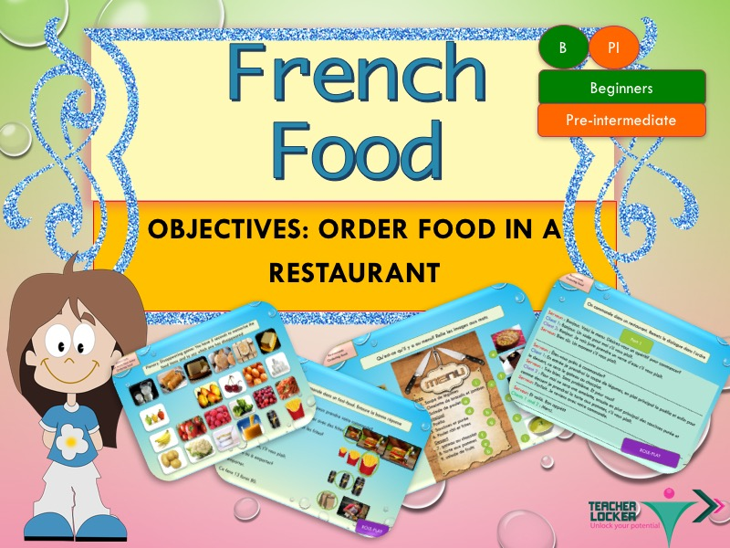 French food order in a restaurant full lesson with exercices