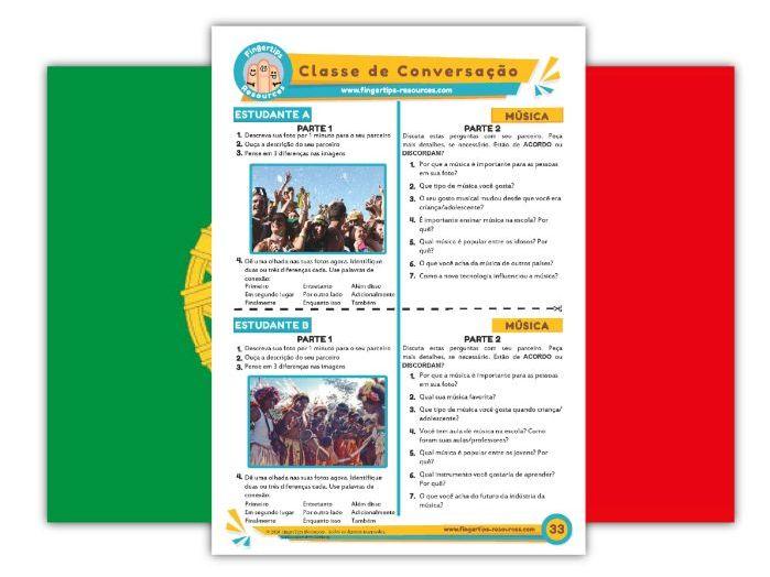 Música - Portuguese Speaking Activity