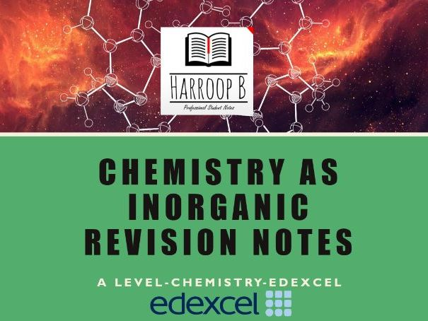 AS/A level Chemistry - Edexcel - Inorganic Chemistry | Unit 4  - Revision Notes