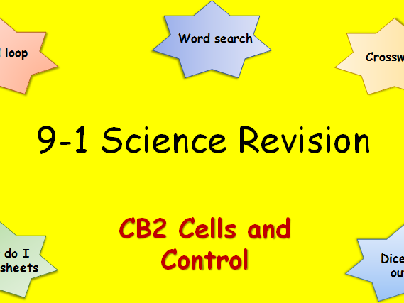 Edexcel CB2 Cells and Control Revision pack Science 9-1