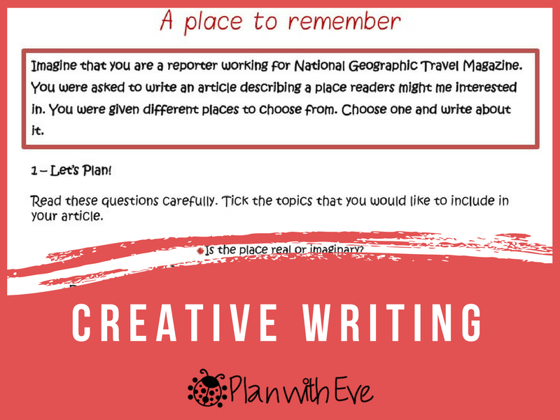 Creative Writing! Instructions + Ideas + Organiser!
