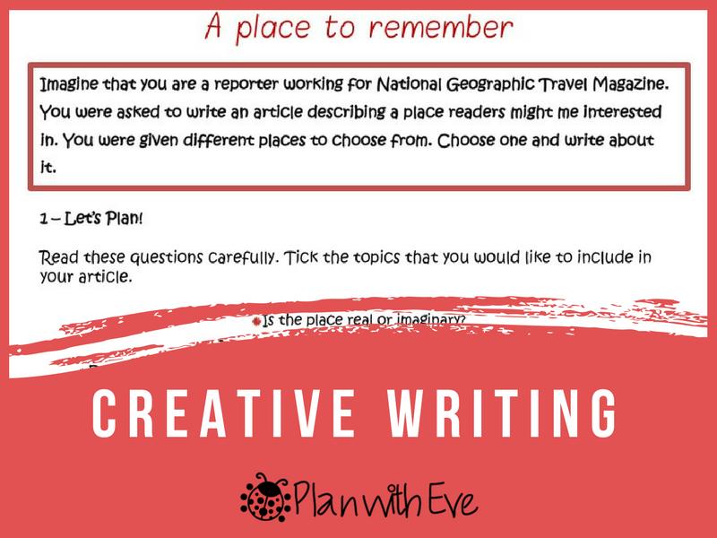 Creative Writing! Instructions + Ideas + Organiser!