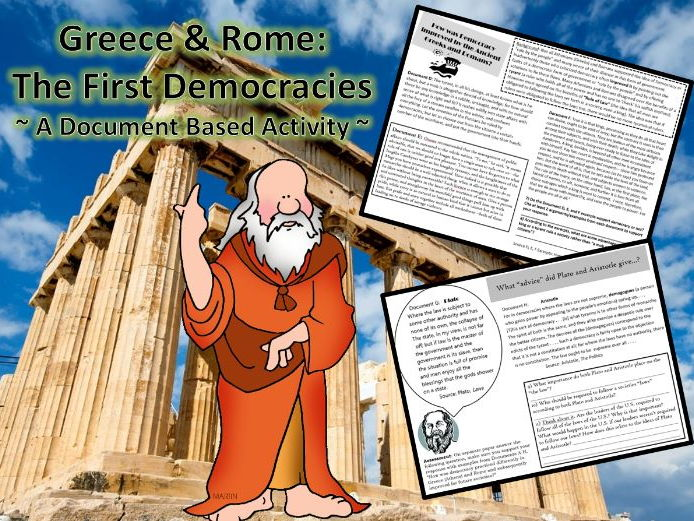 Greece & Rome: Origin of Democracy ~ A Document Based Activity ~