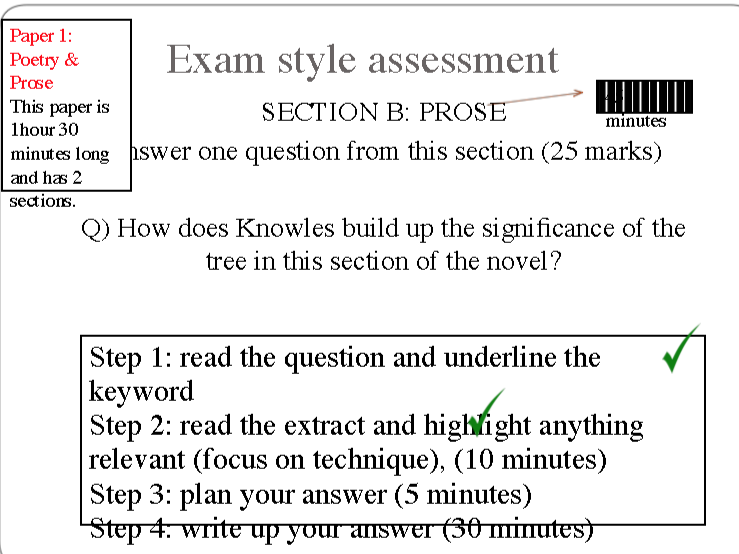 A Separate Peace Novel - Year 11 Revision (IGCSE 0486/0475)