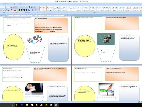 GCSE Business - Subject knowledge resource part 2