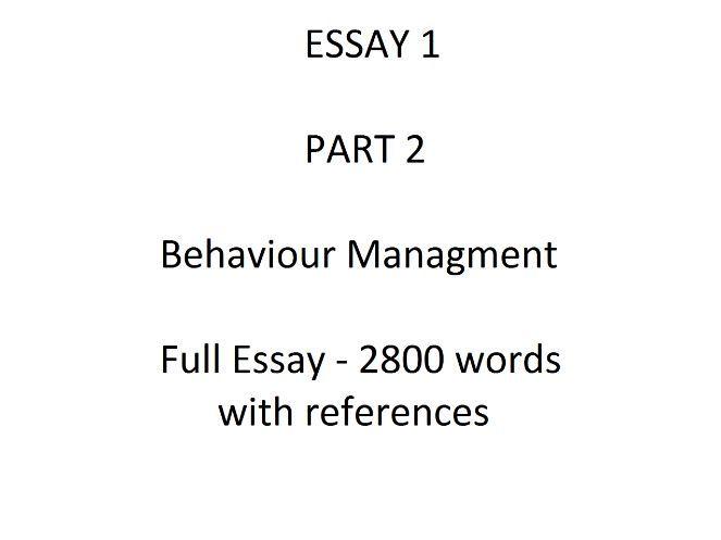 Behaviour essay