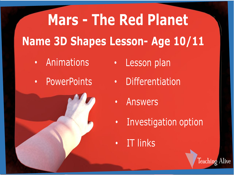 Age 10/11 Name 3D Shapes Lesson
