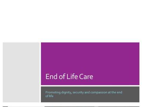End of Life: Presentation & lesson/ workshop resource
