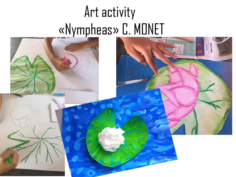 Artistic activity on Monet's Nympheas
