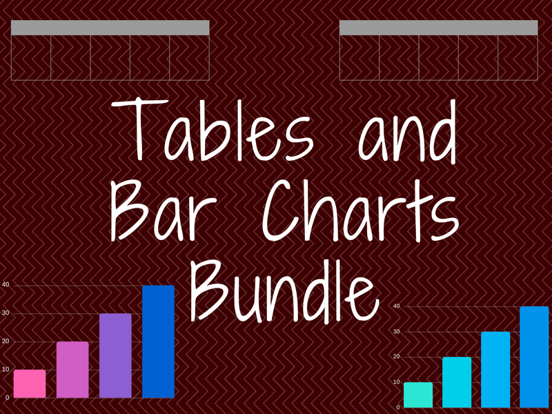 Tables and Bar Charts Bundle