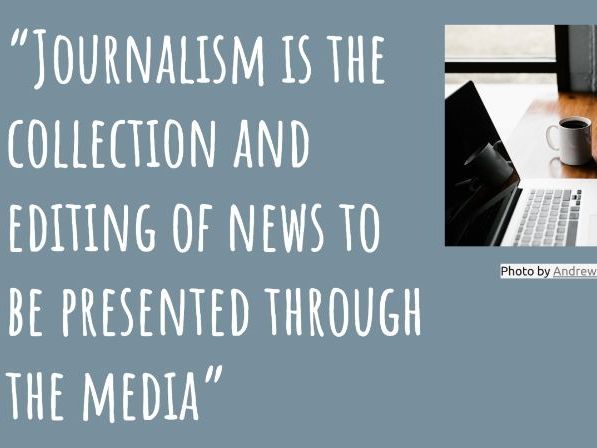 Journalism  5Ws Cover Lesson KS3