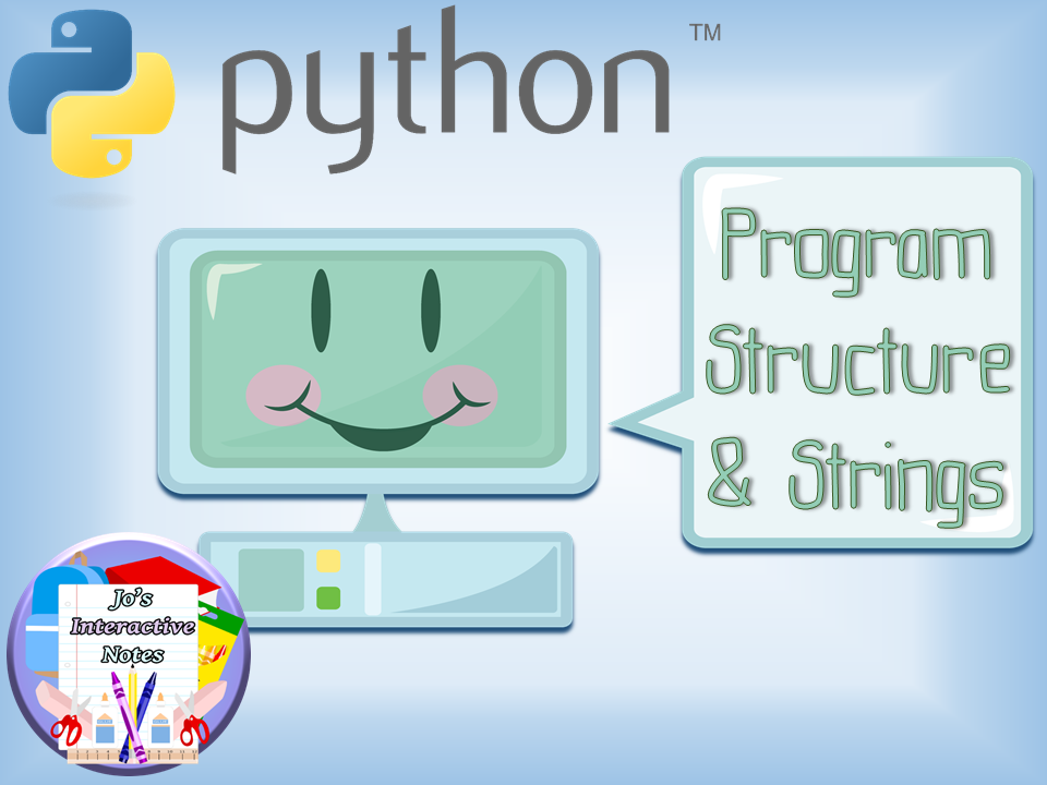 Introduction to Python Lesson 3 - Code Structure & Use of Strings FULL LESSON