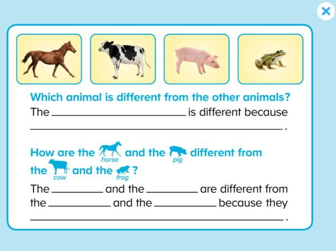 ABCmouse Logic Puzzles: Same and Different: Animals