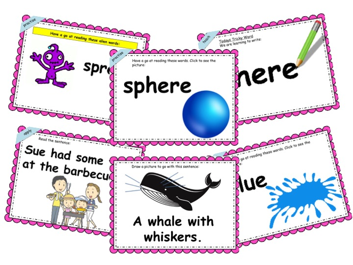 Phonics Powerpoint, Phase 5, Week 4 (ue, ew, ph, wh, zh)