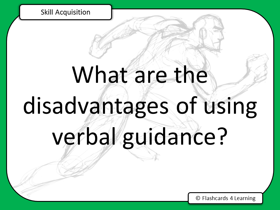 A Level PE (2016): Skill Acquisition Question Cards