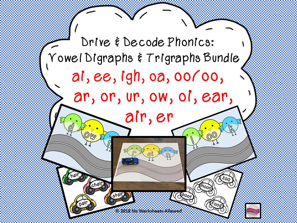 Vowel Digraphs/Trigraphs Decoding Phonics Bundle