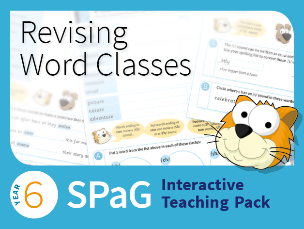 Year 6 SPaG Interactive Teaching Pack - Revising word classes
