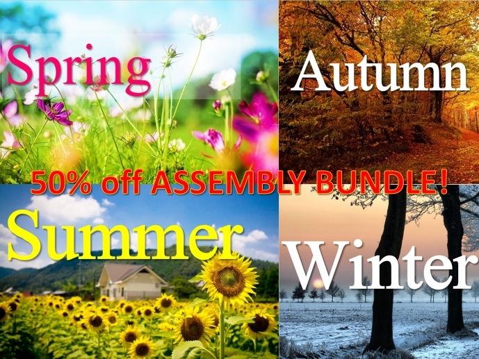 Season Assemblies 50% off!