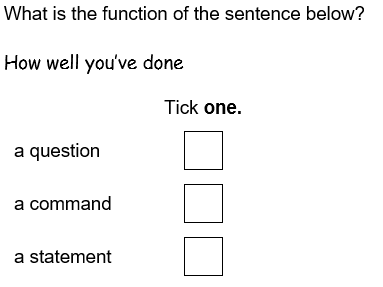 KS2 SATs GPS Statements, Questions, Commands and Exclamations Assessment (with Mark Scheme)