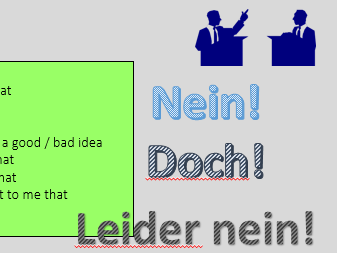 Debatte Vokabeln / vocab sheet debates