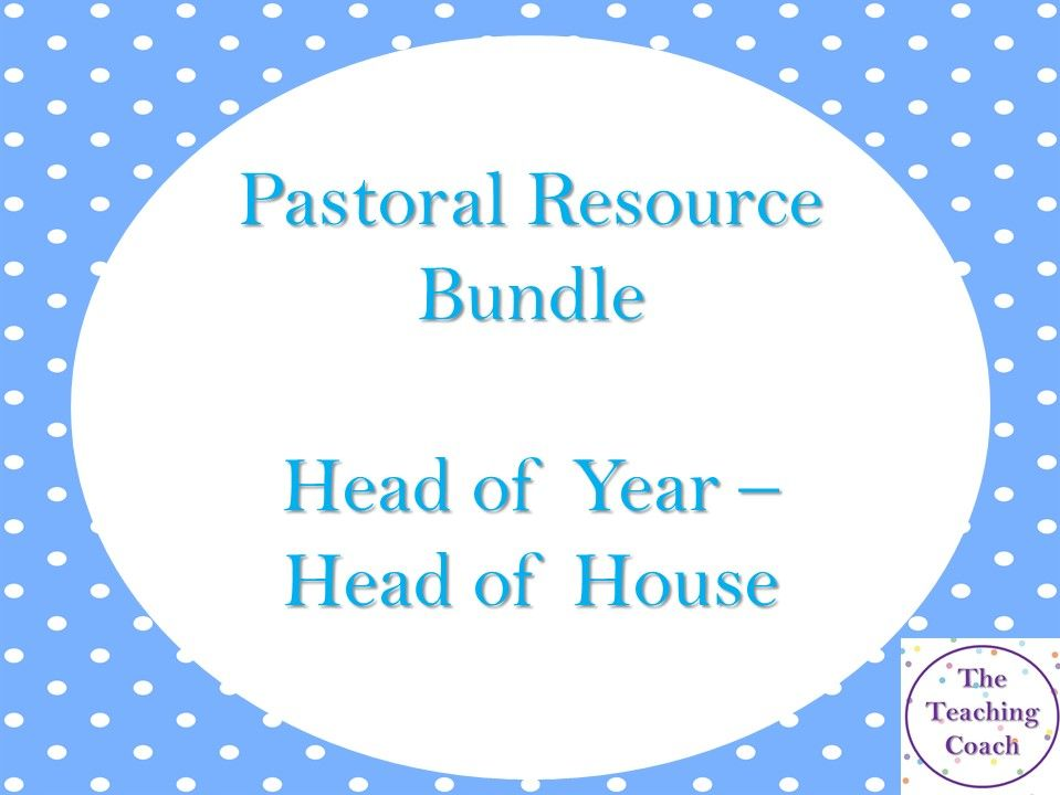 *Massive* New Pastoral Leader - Head of Year - Head of House Bundle
