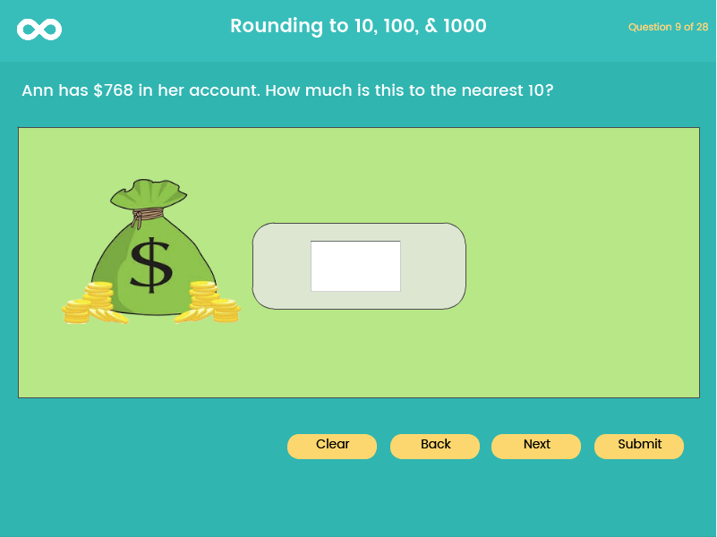 Rounding - Year 4, Key stage 2, (US 3rd grade)