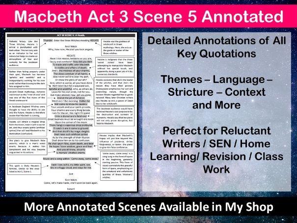 Macbeth Act 3 Scene 5 Annotated