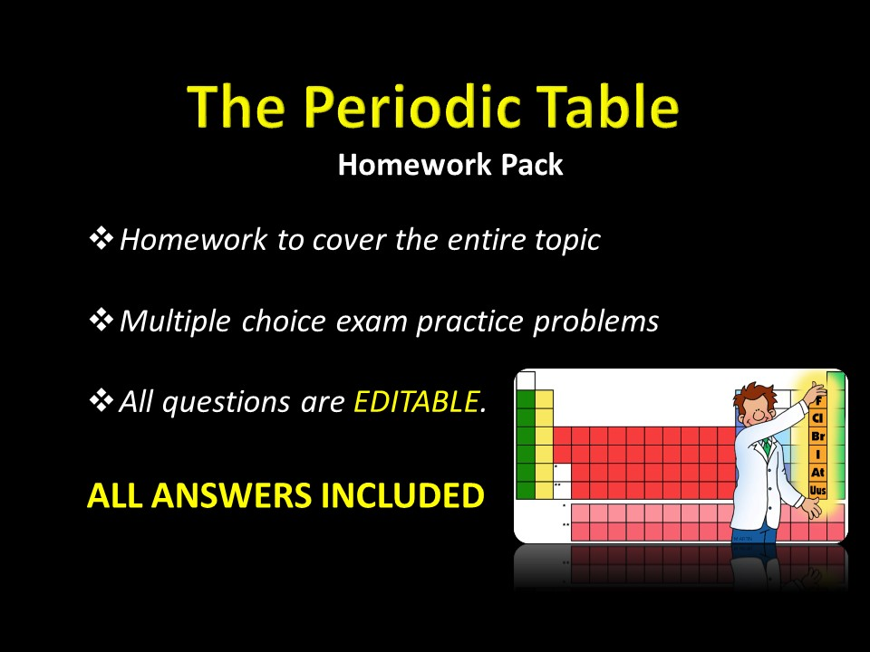 Periodic Table Electron Configuration Trends HOMEWORK W ANSWERS Multiple Choice Exam Practice