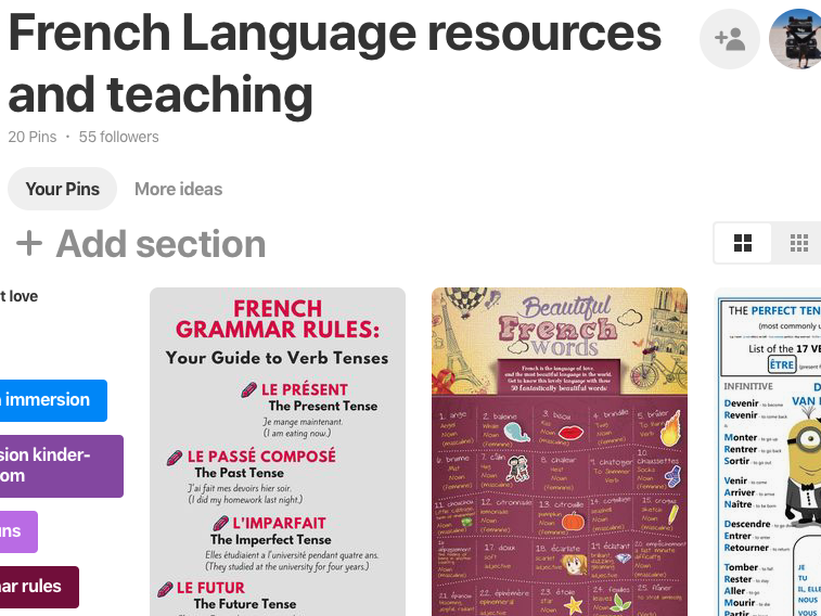 French Language and Teaching Resources ideas Pinterest board