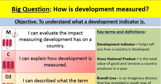Measuring development lesson