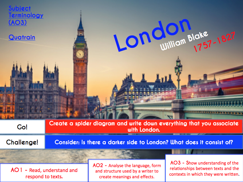 Checking Out Me History - Exposure - London - AQA Poetry