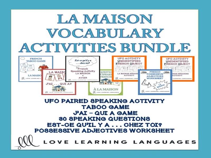 Bundle and Save: La Maison Vocabulary - French  Speaking Activities 6-PACK