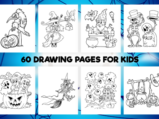60 Halloween Coloring Pages for Kids