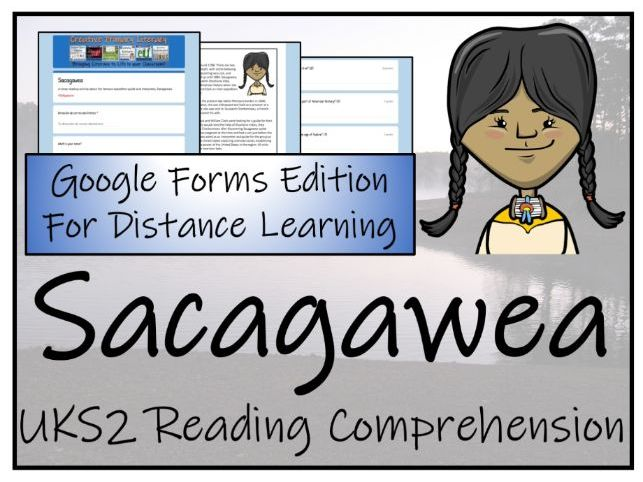 UKS2 Sacagawea Reading Comprehension & Distance Learning Activity