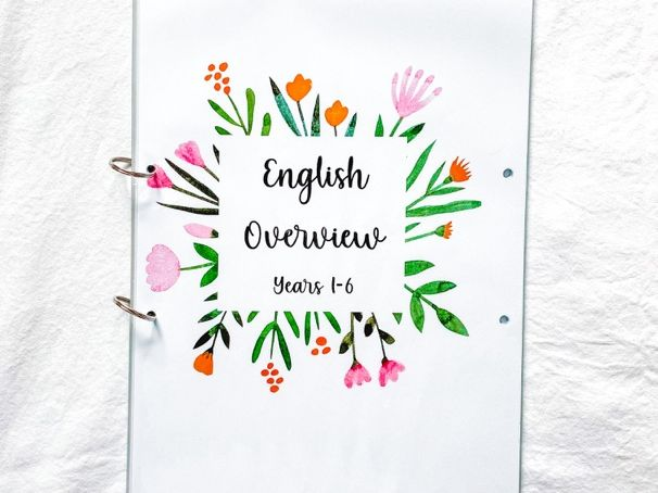 English National Curriculum Overview