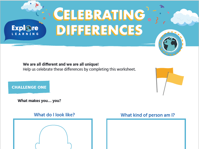 Free_Celebrating differences_activity sheet