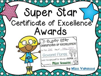 Super Star Award Certificates ~ Promote Positive Behavior in Your Classroom!