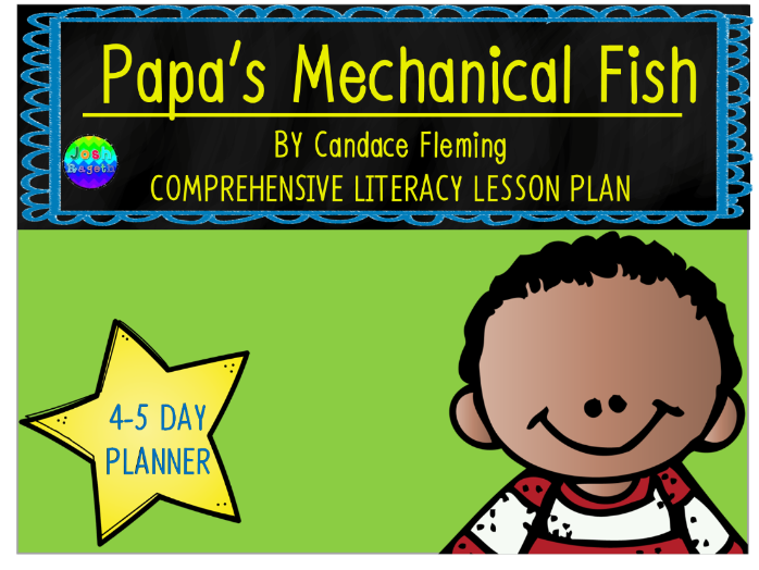 Papa's Mechanical Fish by Candace Fleming 4-5 Day Lesson Plan and Activities