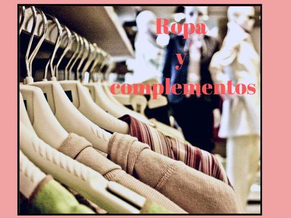 Tarjetas de memoria de la ropa y los complementos. Clothes and accessories flashcards