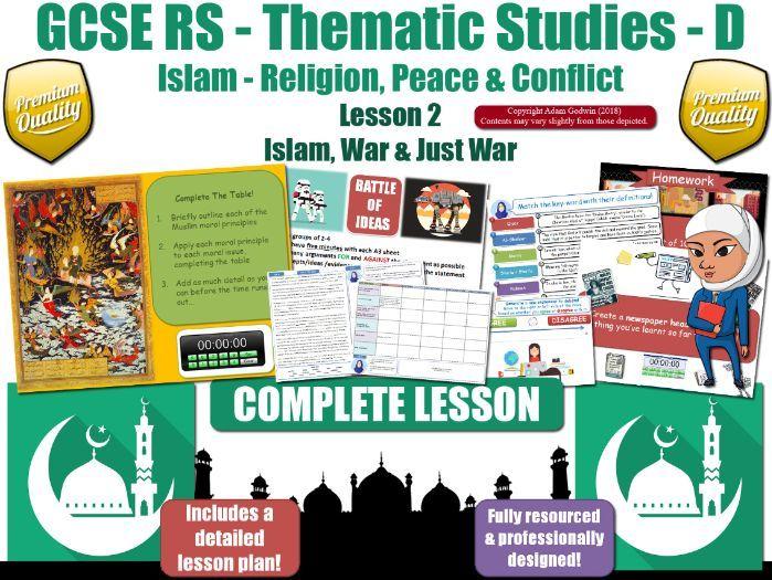 War & Jut War - Islamic  Muslim Views (GCSE RS - Islam - Peace & Conflict) L2/7
