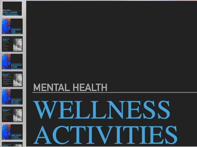 Mental Health: Wellness Activities