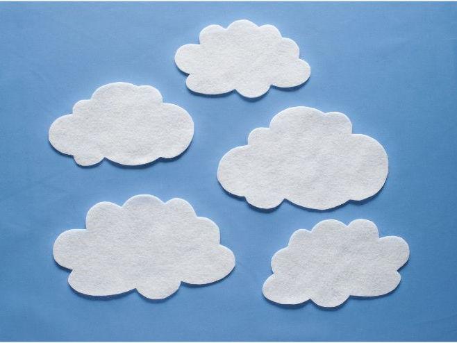 Five Little Clouds Felt Board Set Digital Pattern
