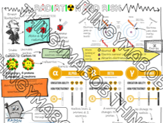 AQA GCSE sketch note dual coding revision Radiation and risk