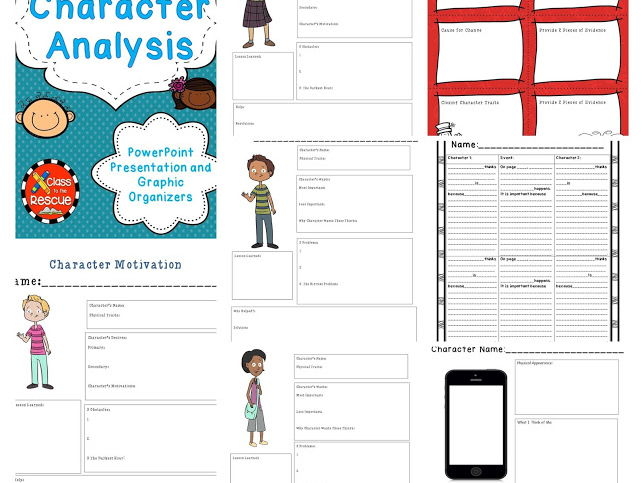 Character Analysis PowerPoint And Graphic Organziers