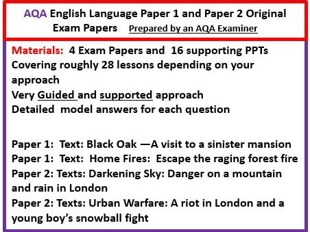 AQA GCSE Language Exam Preparation paper 1 and paper 2